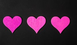valentine Amor Cartão do dia do `s do Valentim Ame o conceito para o dia do ` s da mãe e o dia do ` s do Valentim Corações felize Imagens de Stock Royalty Free