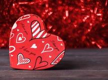 valentine Amor Cartão do dia do `s do Valentim Ame o conceito para o dia do ` s da mãe e o dia do ` s do Valentim Corações felize Imagens de Stock