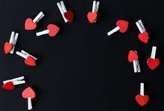 valentine Amor Cartão do dia do `s do Valentim Ame o conceito para o dia do ` s da mãe e o dia do ` s do Valentim Corações felize Fotografia de Stock