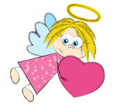 Valentine angel Royalty Free Stock Photos