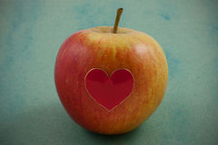Valentine Apple Stock Photo