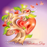 Valentine \ \ \ 'arbre de jour de s Photo stock