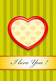 Valentine as heart Royalty Free Stock Images