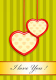 Valentine as two hearts Royalty Free Stock Images