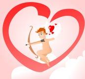 Valentine avec le petit cupidon avec l'arc Illustration Stock