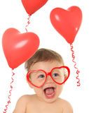 Valentine baby Stock Photos