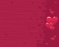 Valentine Background. Valentine hearts are designed with various background patterns Stock Image