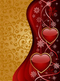 Valentine background. Abstract background with a glossy hearts. Vector illustration Stock Photography