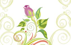 Valentine background. Vector drawing of the valentine's card Royalty Free Stock Photo