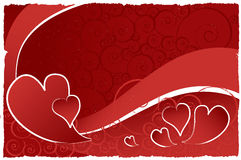 Valentine background. With deep reds Royalty Free Stock Photography