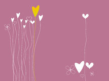 Valentine background. Valentine hearts background mixed various elements Royalty Free Stock Photography