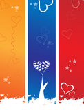 Valentine background. Valentine banner background mixed various elements Royalty Free Stock Photo