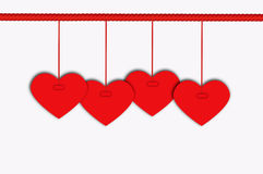 Valentine Background. Hanging Heart Background for Valentine Concept vector illustration