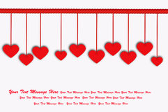 Valentine Background. Hanging Heart Background for Valentine Concept royalty free illustration