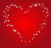 Valentine background. Vector illustration. Heart consisting of words on a love theme Stock Image
