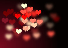 Valentine background. With blurred hearts Royalty Free Stock Photos