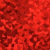 Valentine background. Valentine hearts decoupage background in various shades of red royalty free illustration