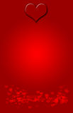 Valentine Background. Background with large heart at the top and tiny hearts at the bottom of the page royalty free illustration