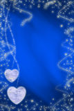 Valentine background. With two heart royalty free illustration
