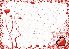 Valentine background. Valentines background with heart and flowers Stock Photography