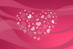 Valentine background. Valentine hearts on abstract background Stock Photos
