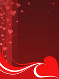 Valentine background. In red (Vector Stock Images