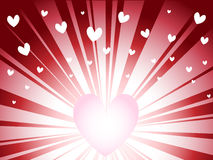 Valentine background. The light and the rays of your heart Royalty Free Stock Image