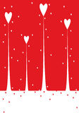 Valentine background. Vector valentine background with heart Stock Photo