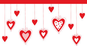 Valentine background. Vector valentine background with heart Stock Images