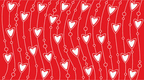Valentine background. Red valentine background with heart Stock Images