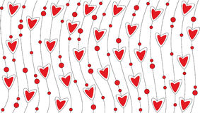 Valentine background. With red heart Royalty Free Stock Photography