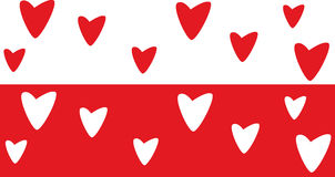Valentine background. Red valentine background with heart Royalty Free Stock Images