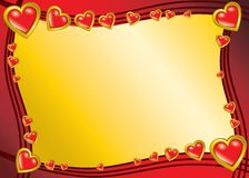 Valentine background. With gold hearts royalty free illustration