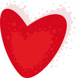 Valentine background. Red valentine background with heart Stock Photo