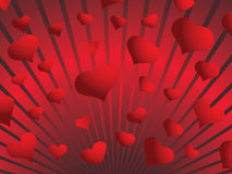Valentine background. St. Valentine Day  greeting card with hearts Stock Photography