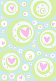 Valentine Background. Background for Greeting card or Banner for Valentine's Day Stock Images