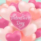 Valentine Background avec des ballons Images libres de droits