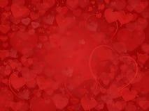 Valentine Background avec le cadre rêveur de coeurs Photo stock
