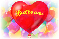 Valentine Background with Balloons Royalty Free Stock Photo