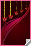 Valentine background card with hearts Royalty Free Stock Image