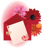 Valentine background card with hearts Stock Images