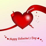 Valentine background with cocktail Royalty Free Stock Images