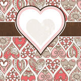 Valentine background with color hearts Stock Image