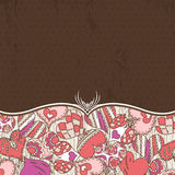 Valentine background with color hearts Royalty Free Stock Image