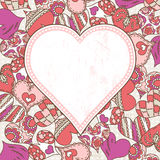 Valentine background with color hearts Royalty Free Stock Photography