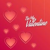 Valentine Background com decorações dos corações Fotografia de Stock Royalty Free