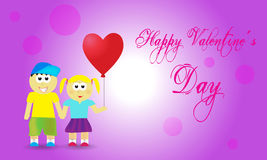 Valentine background couple. With balloon Royalty Free Stock Photos
