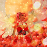 Valentine background with cupid Royalty Free Stock Photos