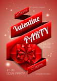 Valentine background. Disco poster Stock Images