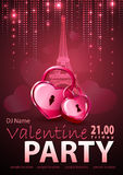 Valentine background. Disco poster Stock Photos